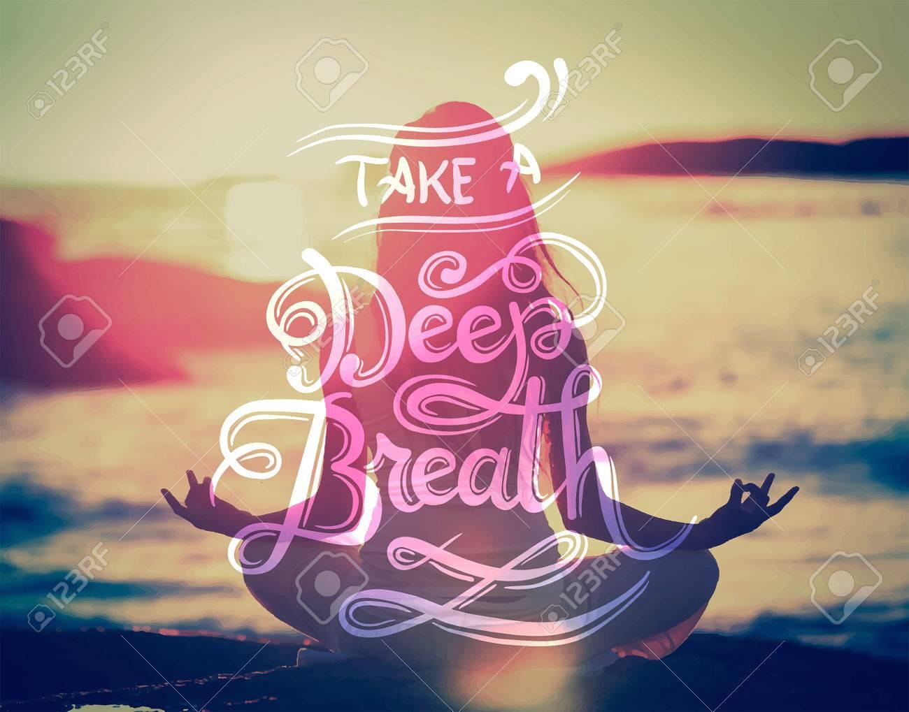 Digitally generated Take a deep breath vector - 38095866