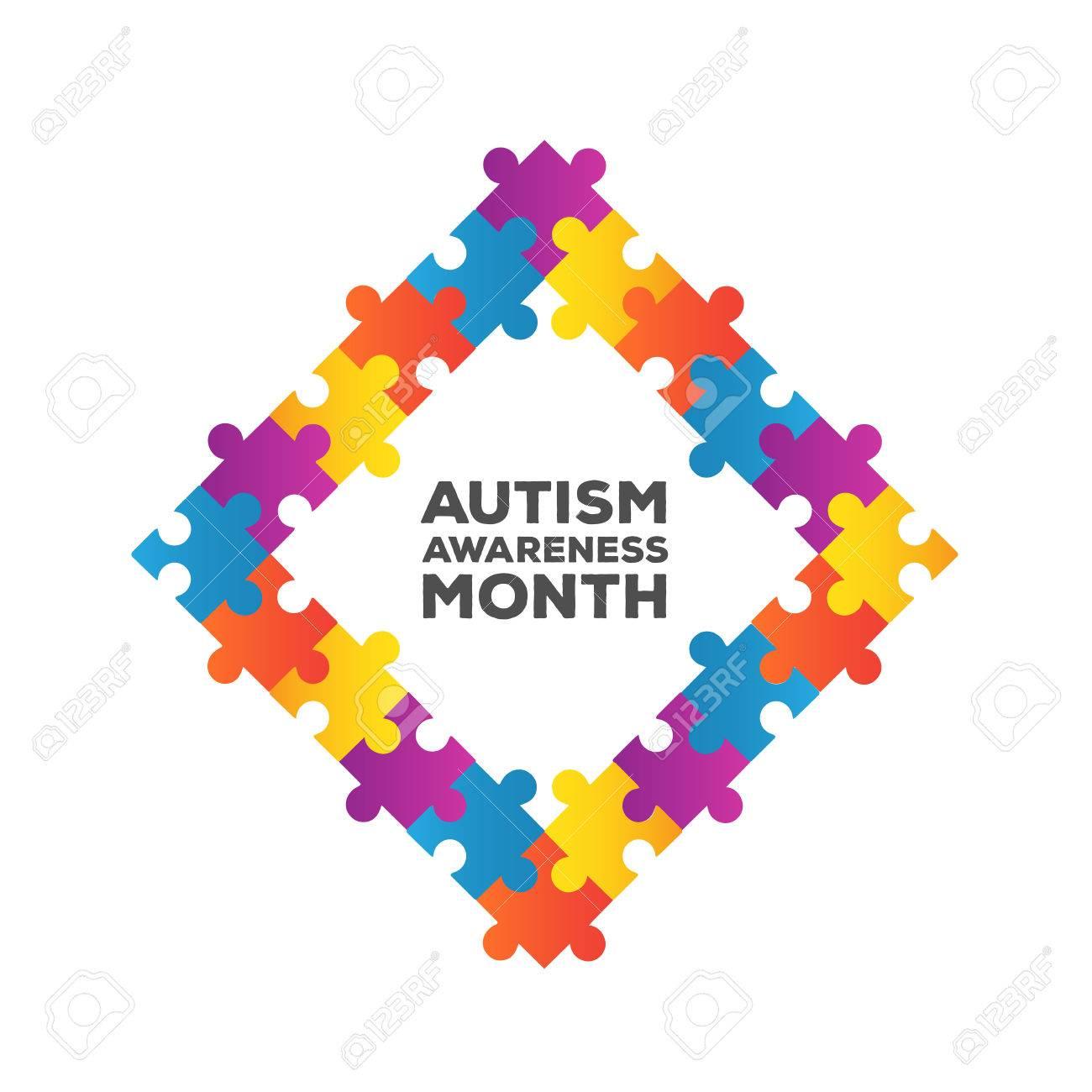 Digitally generated Autism awareness design vector Stock Vector - 38096416