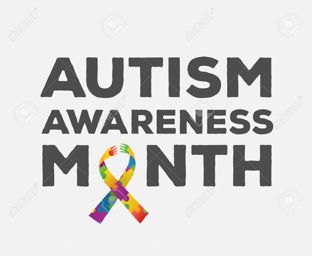 Digitally generated Autism awareness design vector Stock Vector - 38096422