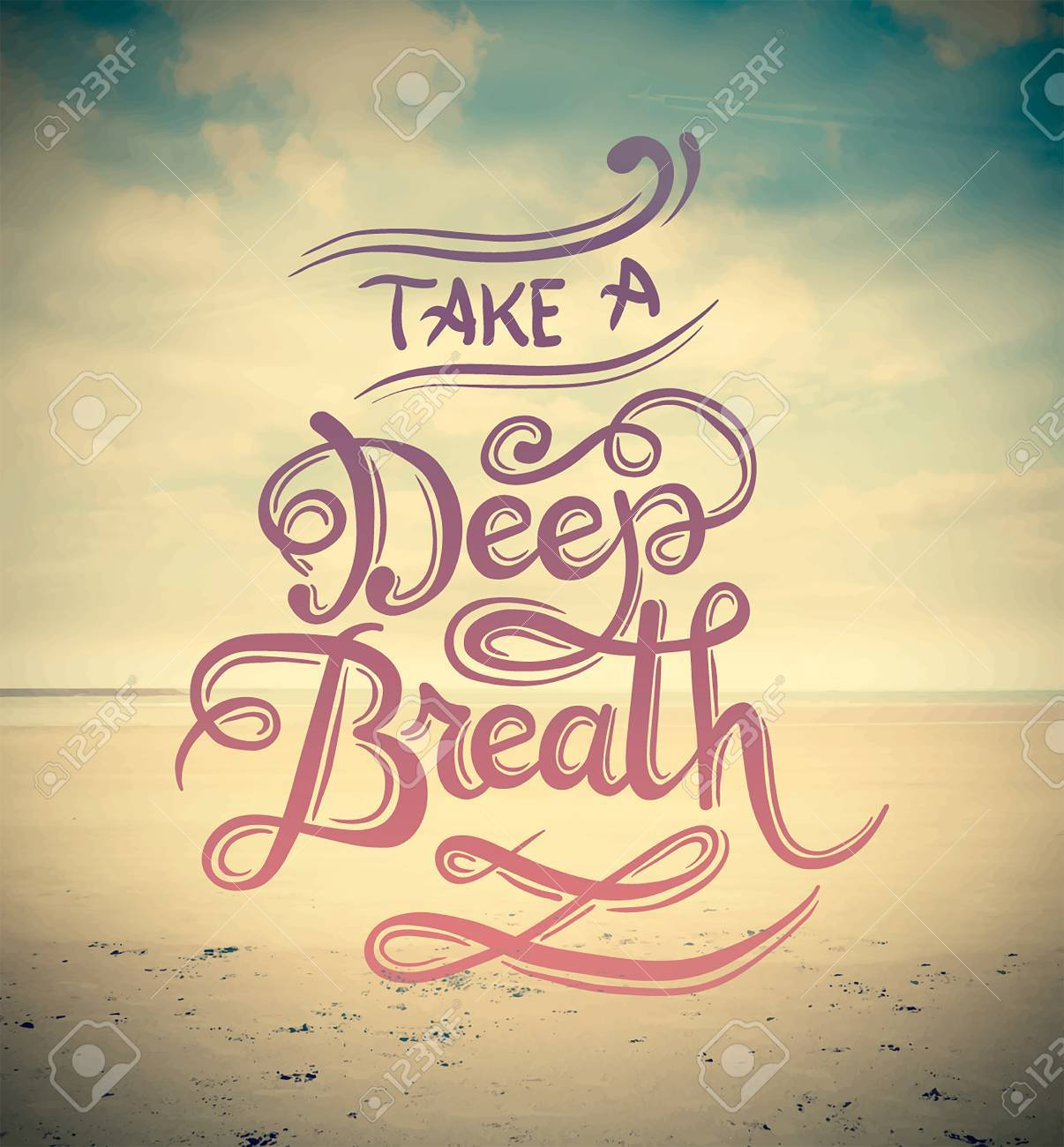 Digitally generated Take a deep breath vector Stock Vector - 38098177