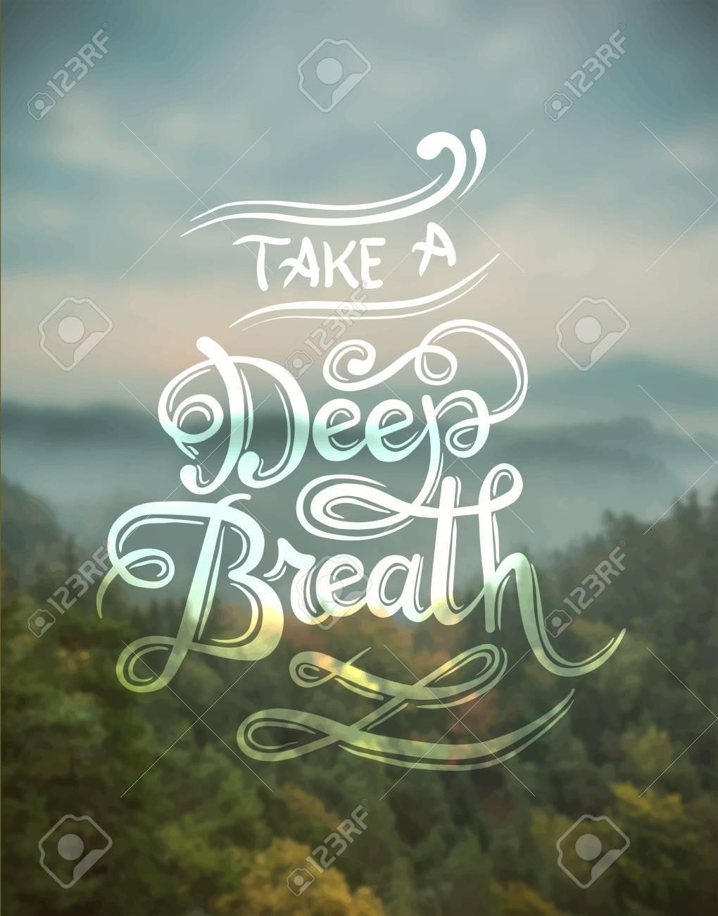 Digitally generated Take a deep breath vector Stock Vector - 38098182