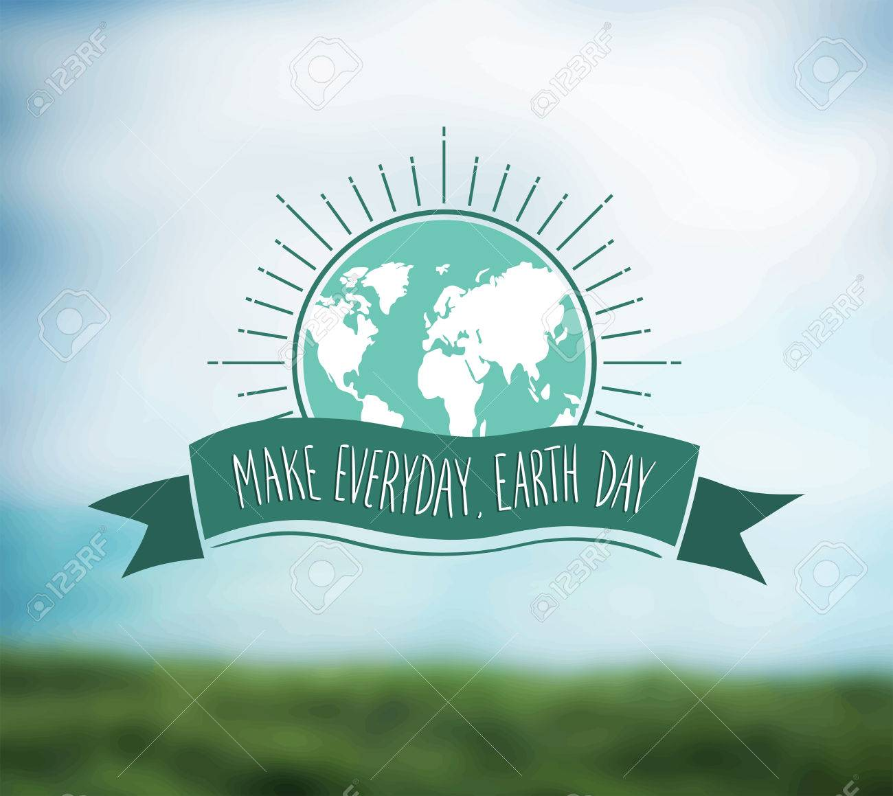 Digitally generated Earth day vector Stock Vector - 38673130
