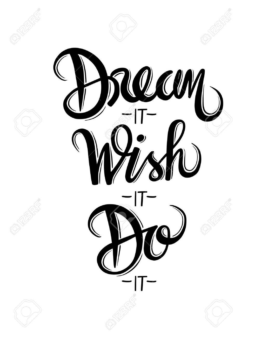 Digitally generated Motivational vector with dream text Stock Vector - 38677073