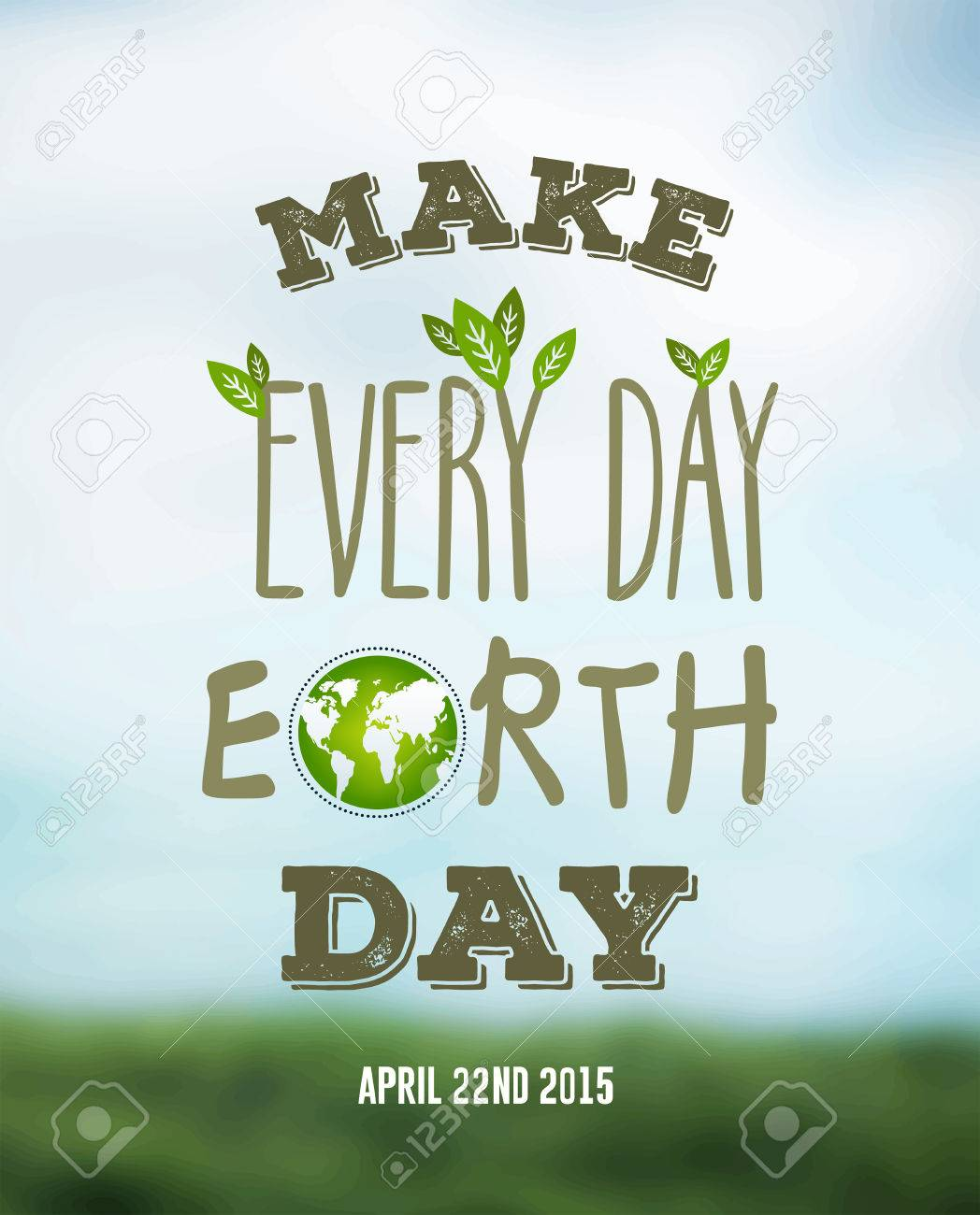 Digitally generated Earth day vector Stock Vector - 38677091