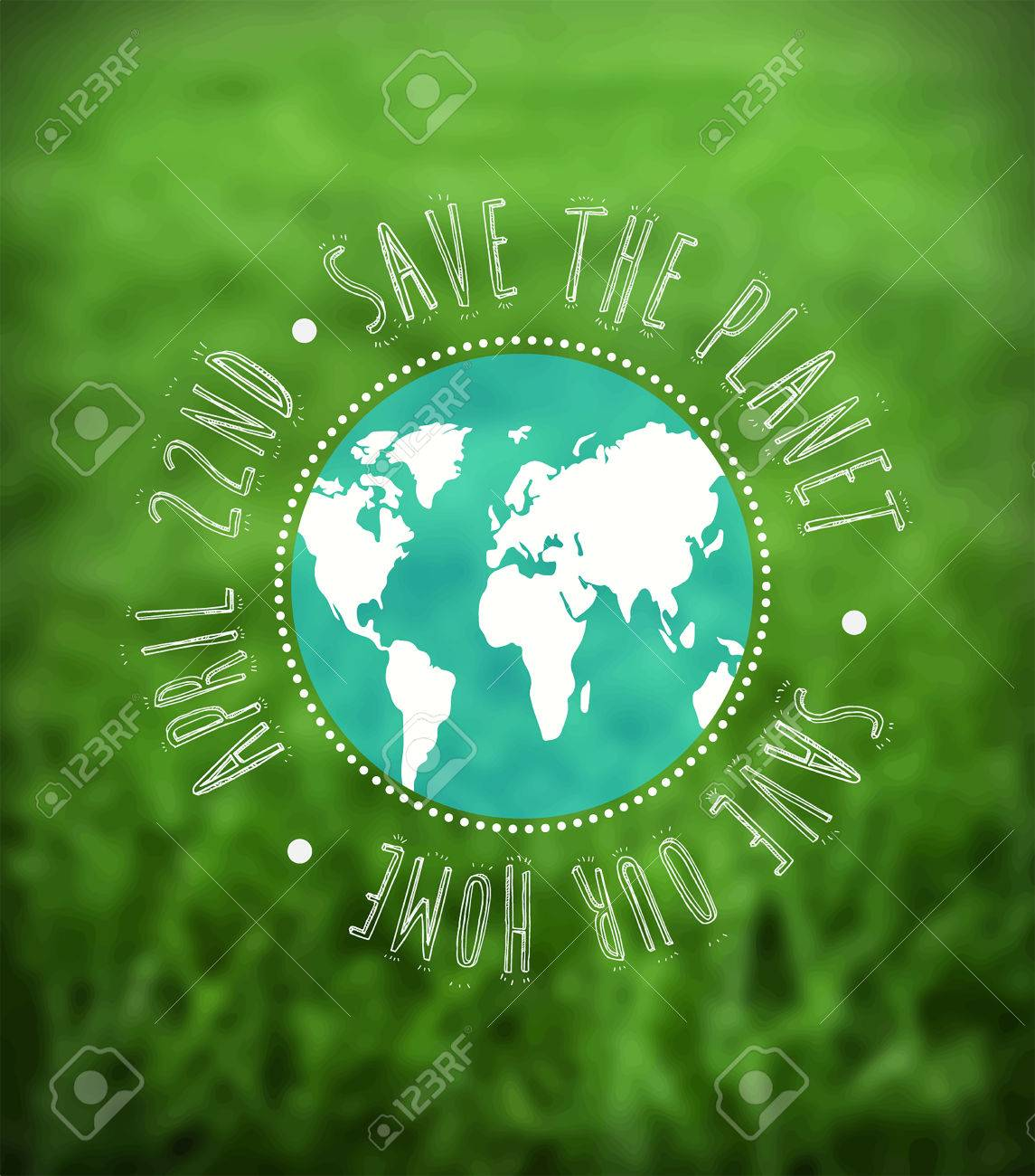 Digitally generated Earth day vector Stock Vector - 38677115