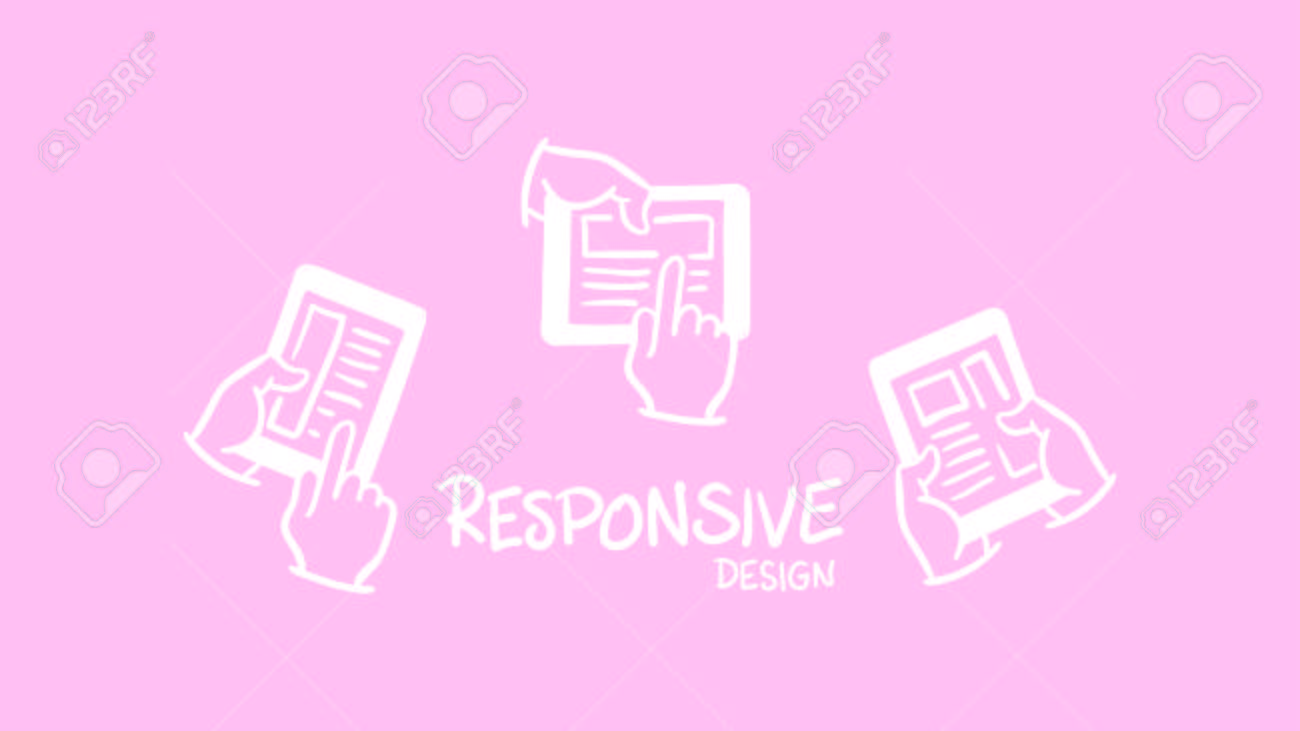 Vector Icon Of Web Designing Against Pink Background Royalty Free