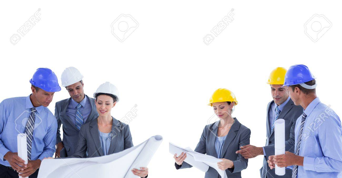 Digital composite of architects looking blueprint group collection digital composite of architects looking blueprint group collection stock photo 75672769 malvernweather Image collections