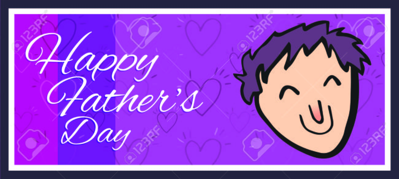 Vector of greeting card with fathers day message royalty free vector vector of greeting card with fathers day message m4hsunfo