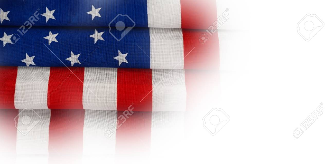 High Angle Full Frame Of Folded American Flag Stock Photo, Picture ...