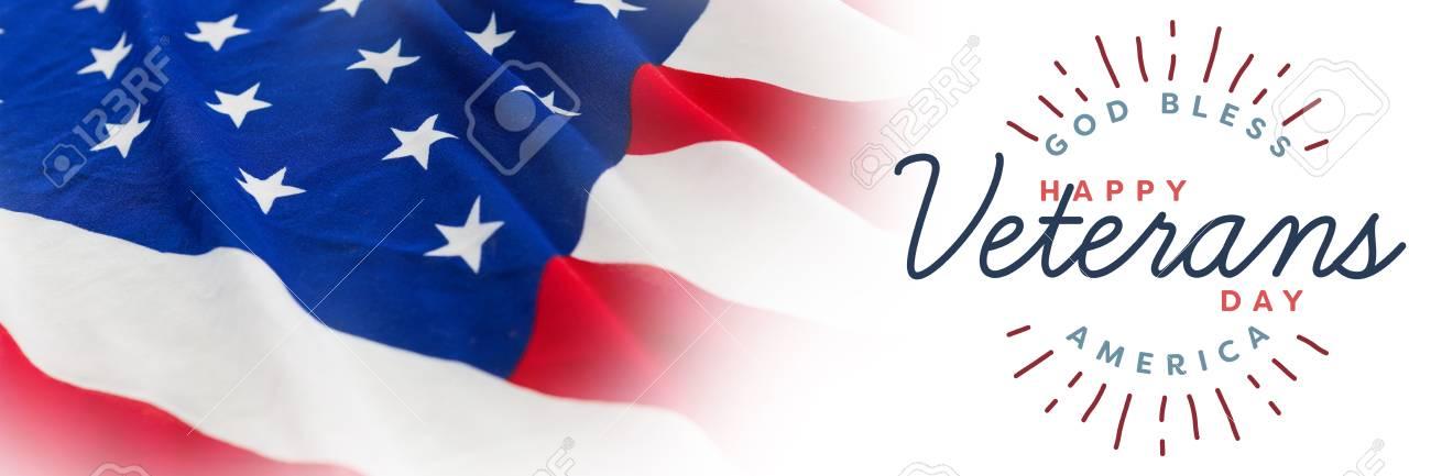 Día De Veteranos En América Contra El Fotograma Completo De Bandera ...