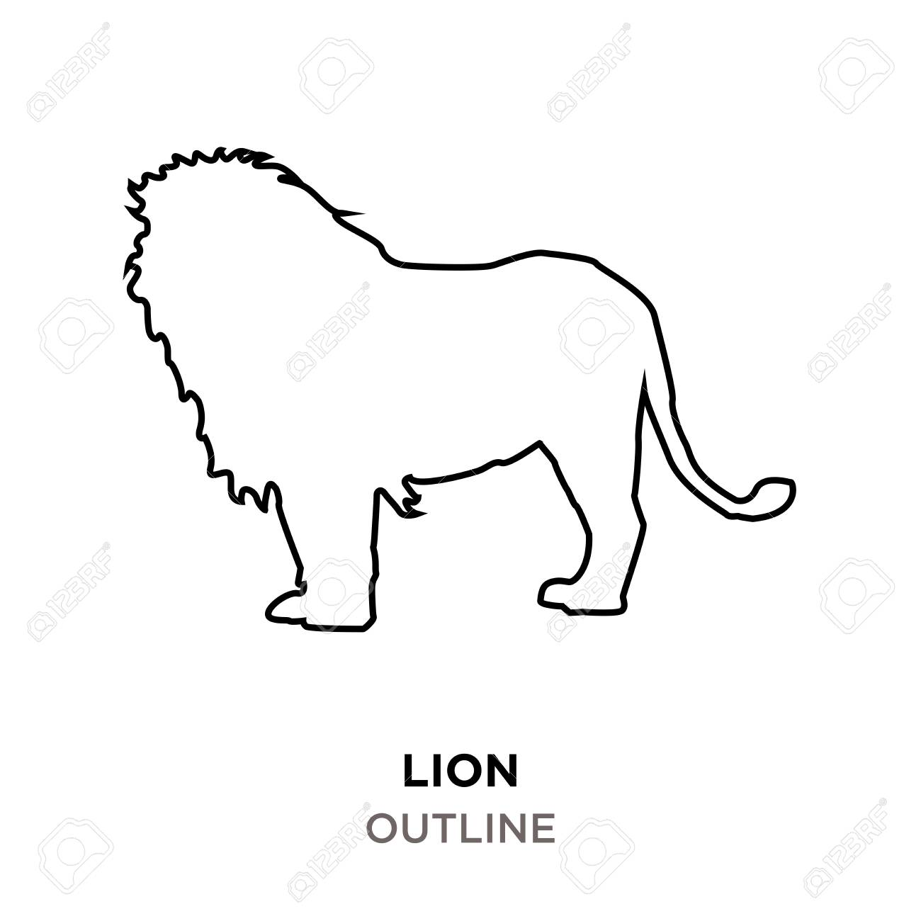Lion Outline Images On White Background Royalty Free Cliparts Vectors And Stock Illustration Image 98898970 You have come to the right place! lion outline images on white background
