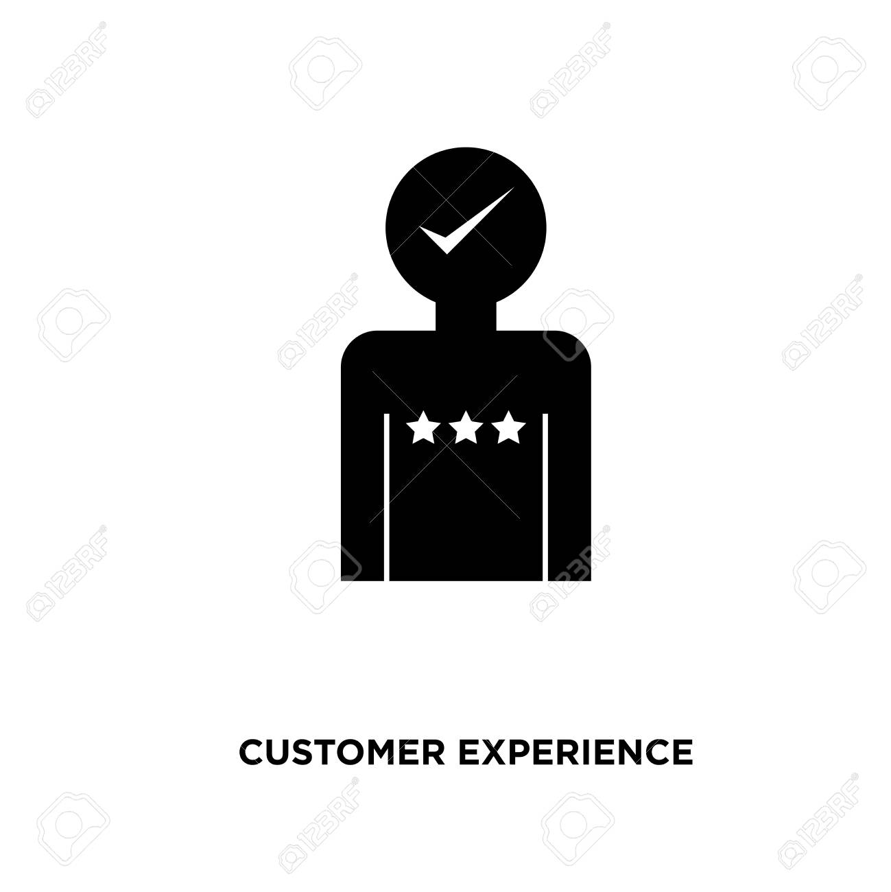 Customer Experience Icon Isolated On White Background For Your Web Mobile And App Design Stock