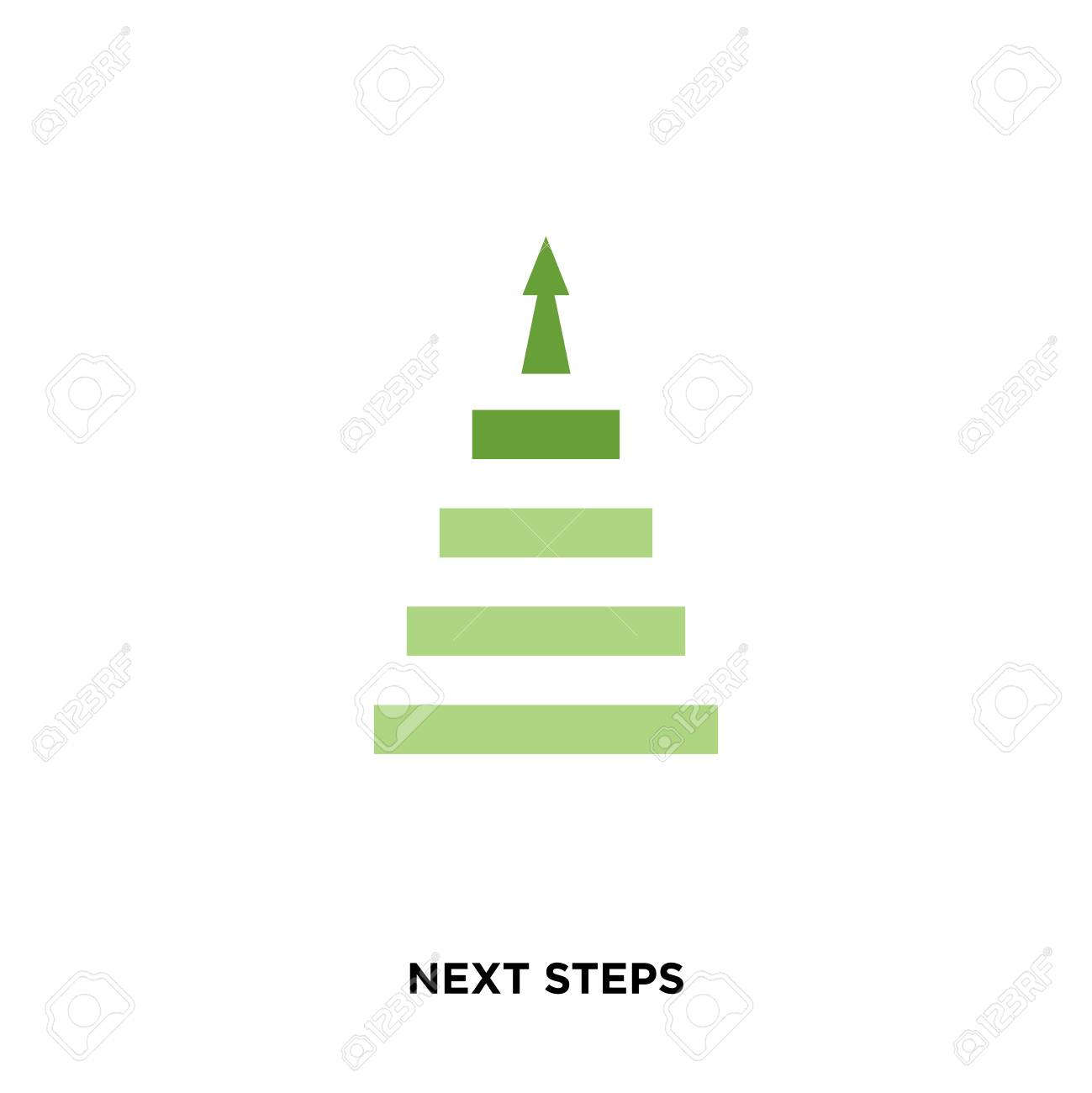 next steps icon isolated on white background for your web, mobile and app design Stock