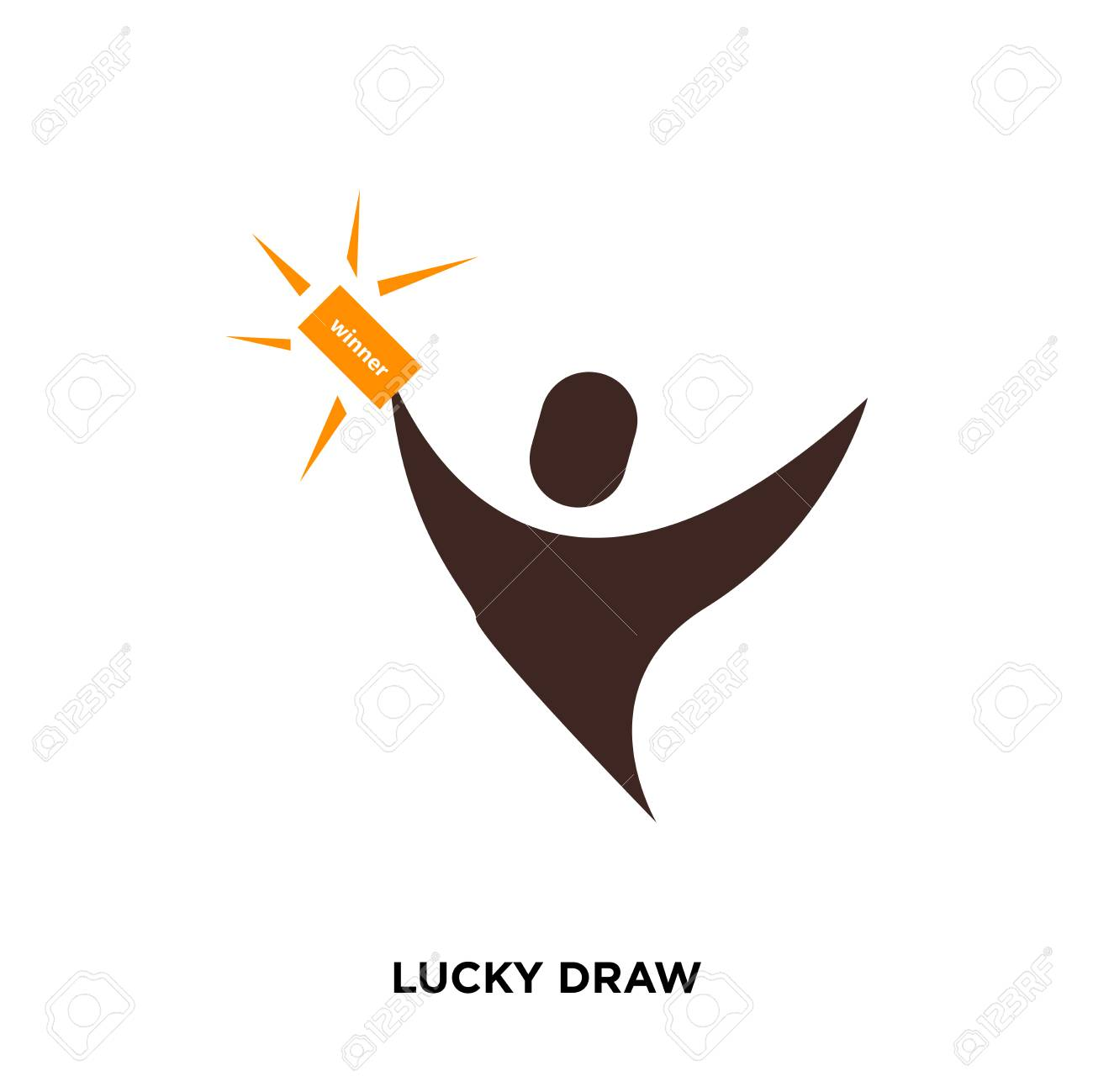 Lucky Draw Icon Isolated On White Background For Your Web Mobile