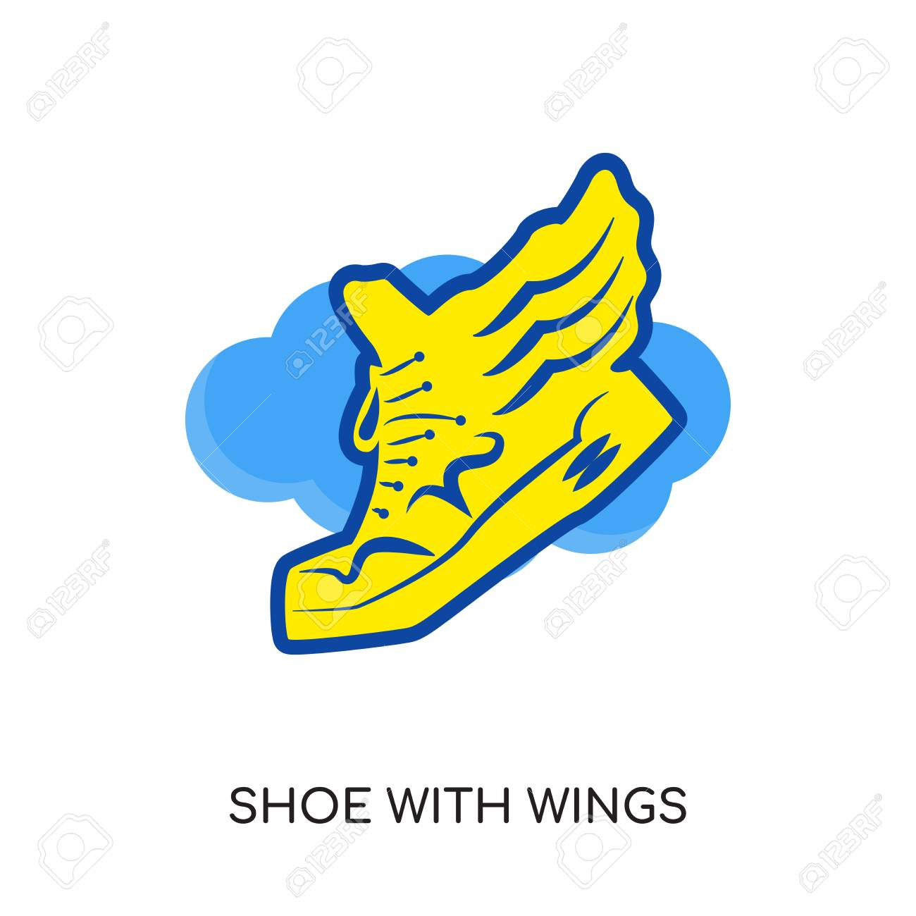 shoe with wings logo isolated on white background for your web rh 123rf com flying shoe with wings logo name