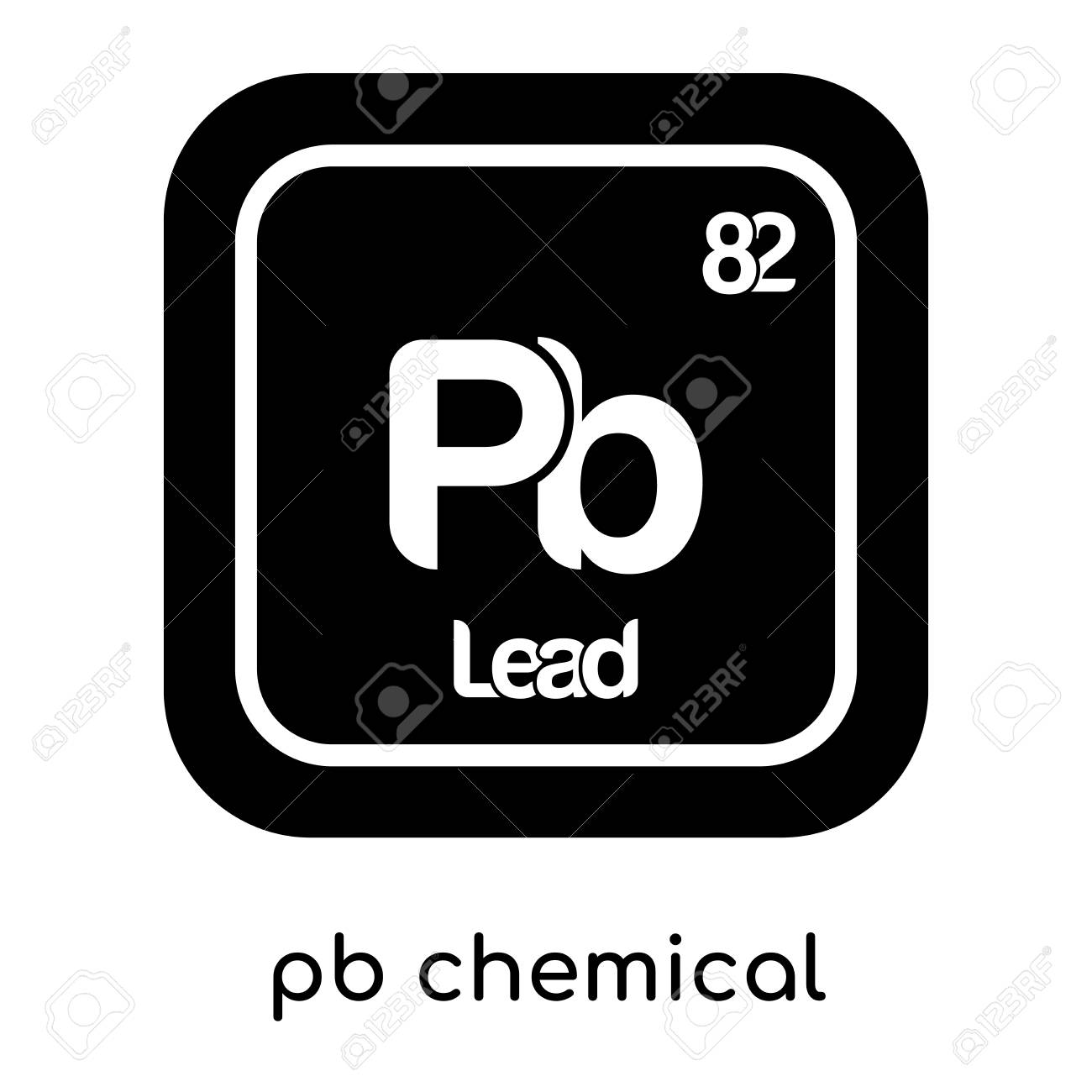 pb chemical symbol isolated on white background for your web