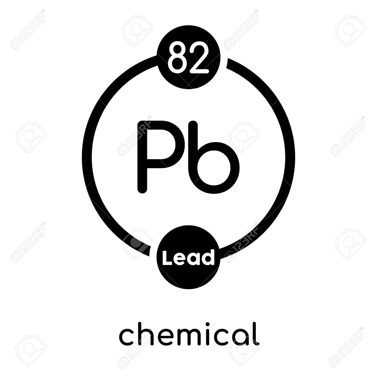 chemical symbol lead isolated on white background for your web Silver Element chemical symbol lead isolated on white background for your web and mobile app design