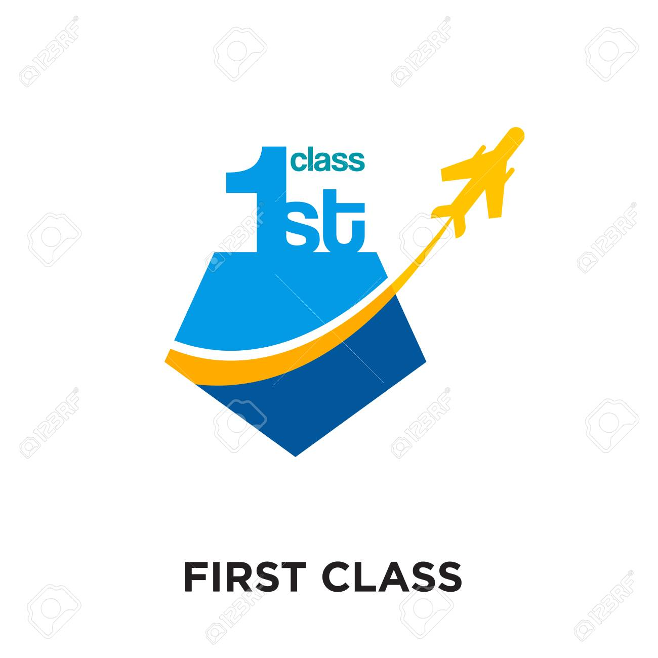 Logo First Class Isolated On White Background For Your Web And Royalty Free Cliparts Vectors And Stock Illustration Image 101122380