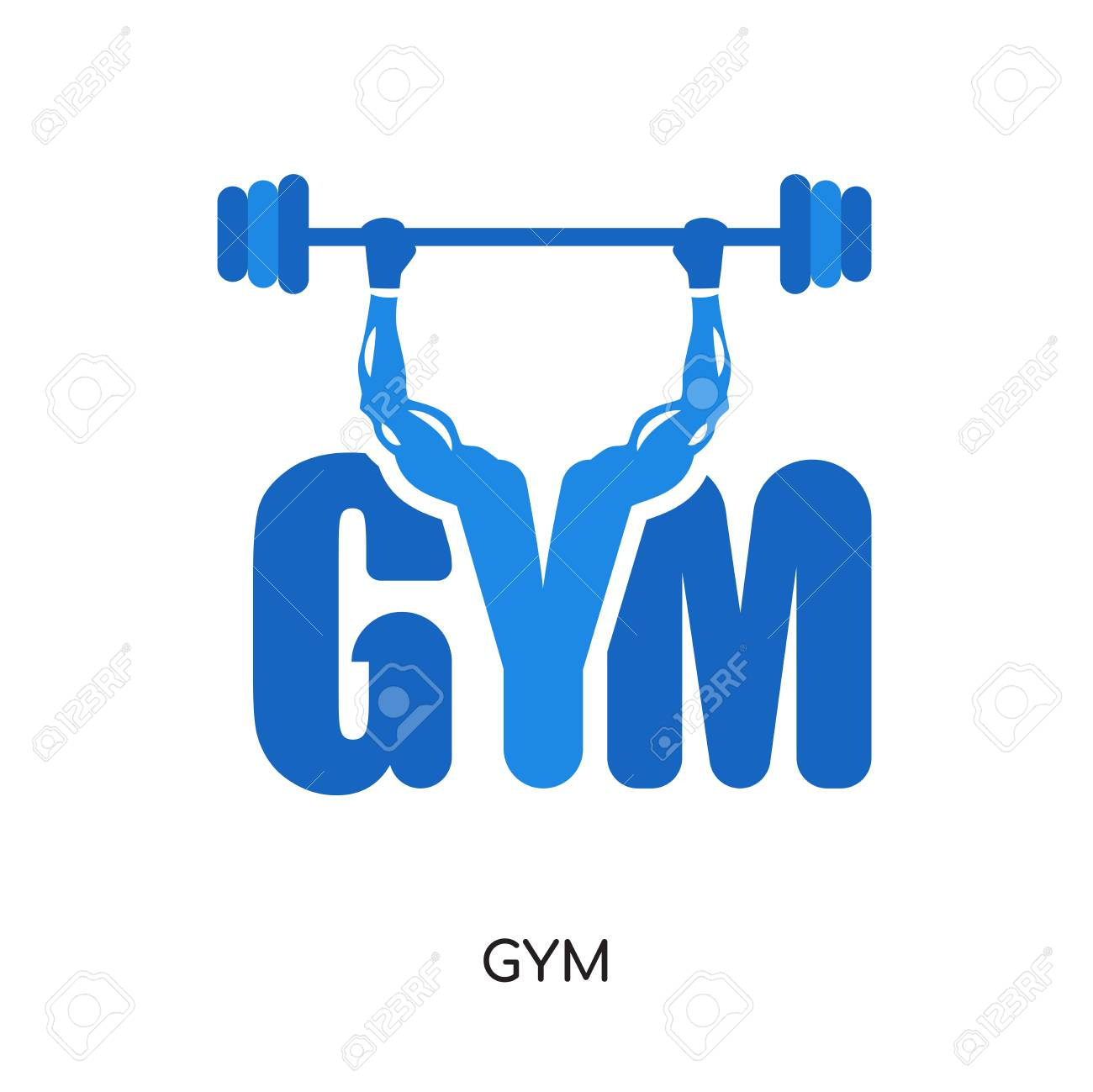 gym logo png isolated on white background for your web and mobile