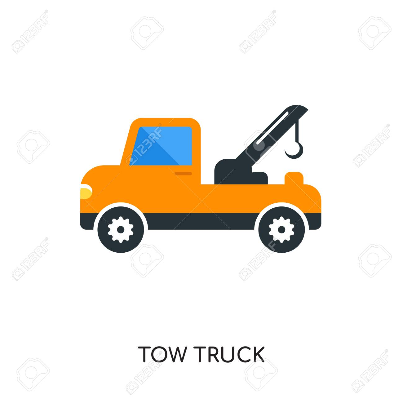tow truck logo isolated on white background for your web and rh 123rf com tow truck logo free tow truck logo creator