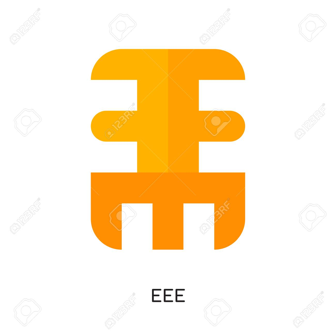 eee logo isolated on white background for your web and mobile
