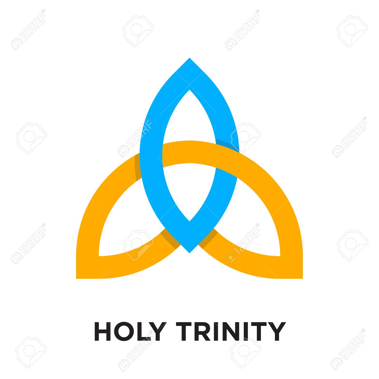 Holy Trinity Logo Isolated On White Background For Your Web And