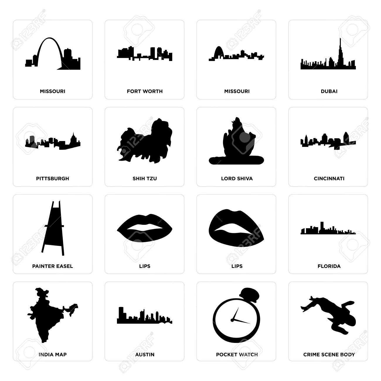 Set Of 16 simple editable icons such as crime scene body, pocket