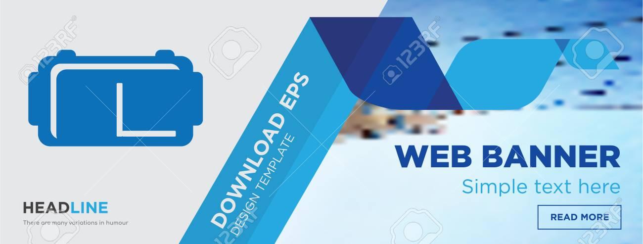 vr headset concept horizontal webpage banner template design
