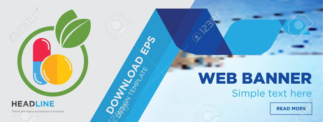 Homeopathy Concept Horizontal Webpage Banner Template Design Royalty Free Cliparts Vectors And Stock Illustration Image 102414135