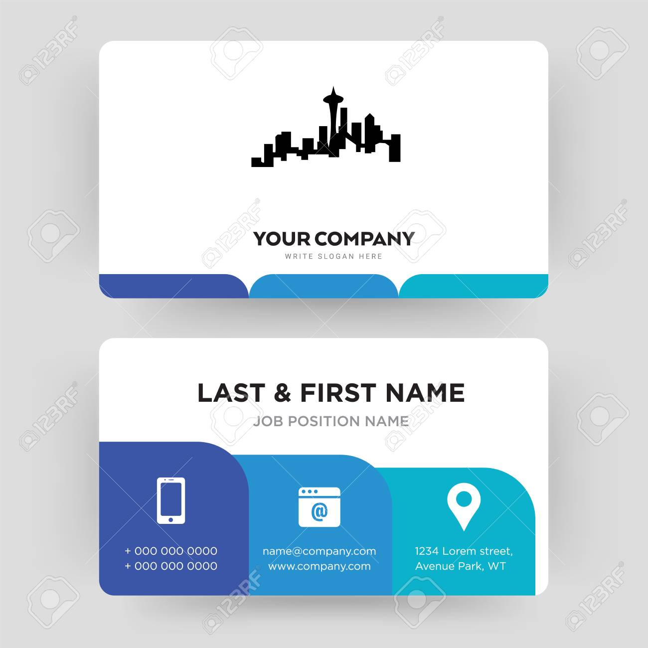 Seattle business card design template visiting for your company seattle business card design template visiting for your company modern creative and clean colourmoves