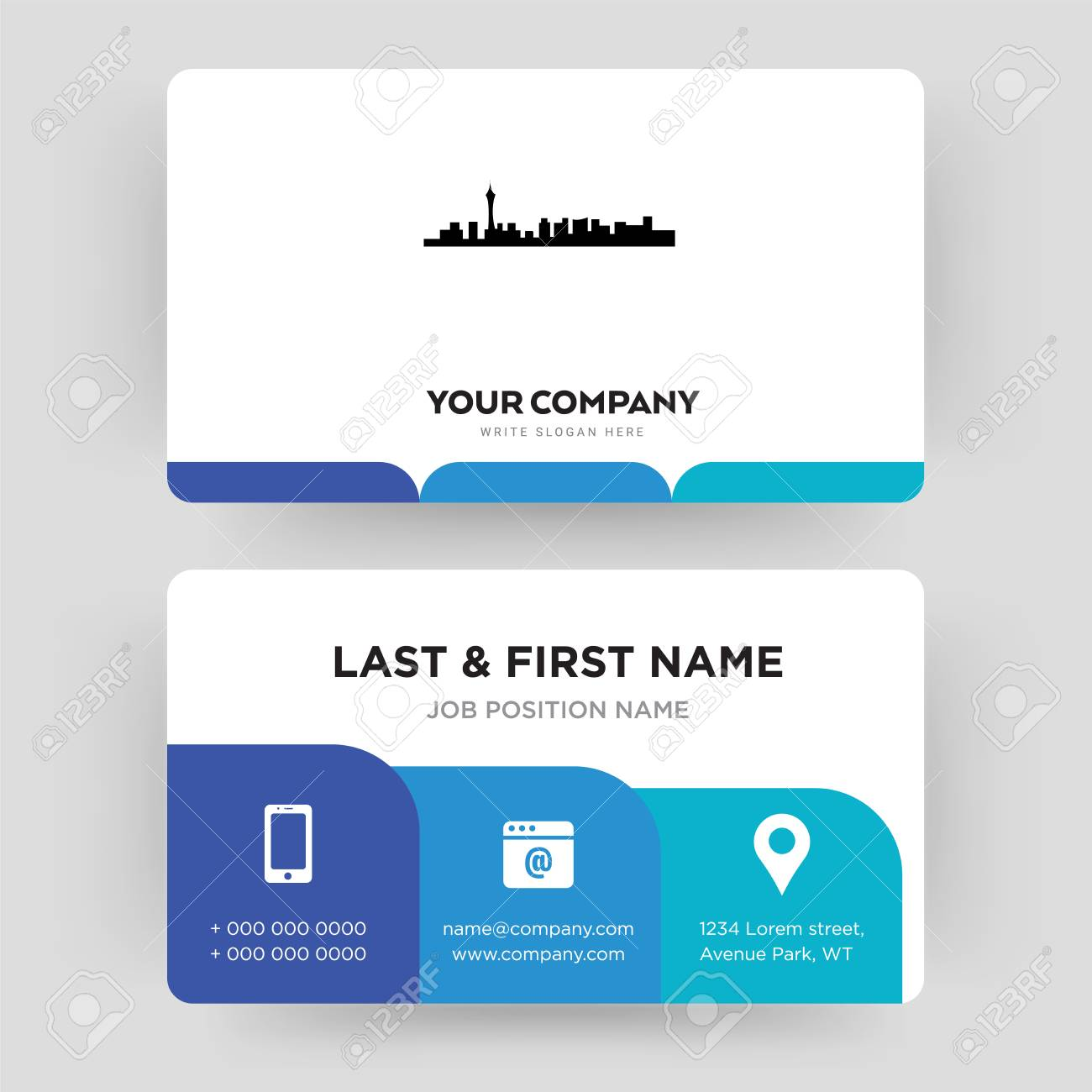 Las Vegas Business Card Design Template Visiting For Your Company