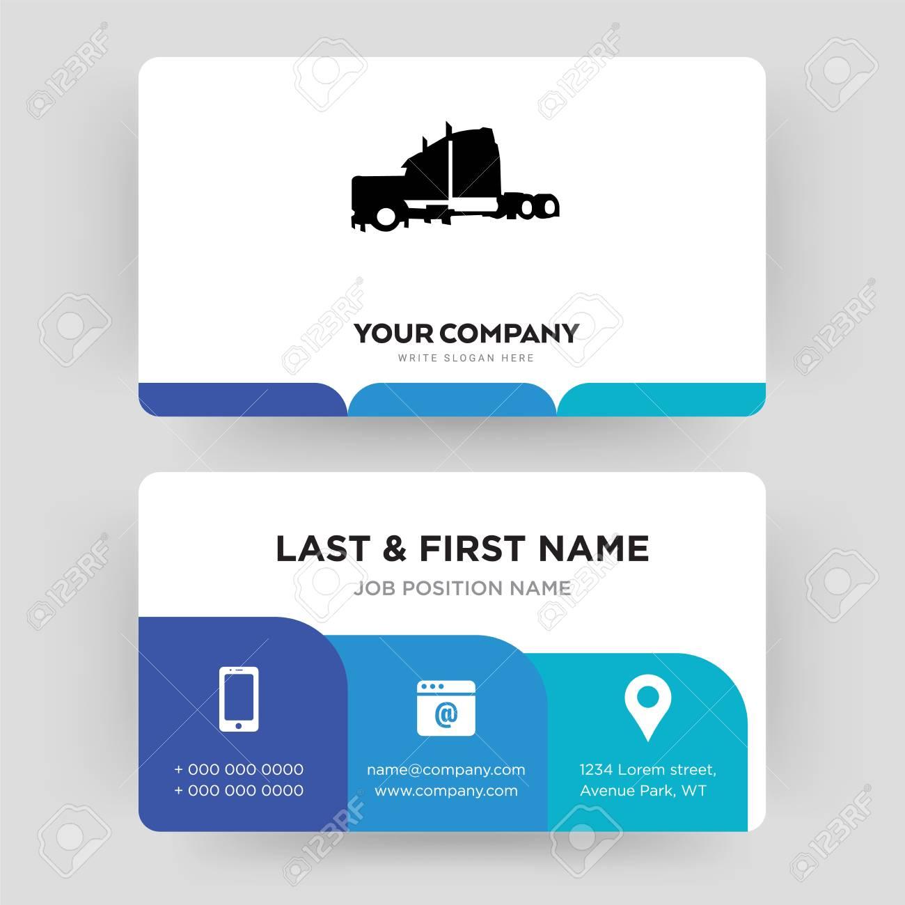 Semi truck business card design template visiting for your semi truck business card design template visiting for your company modern creative and colourmoves