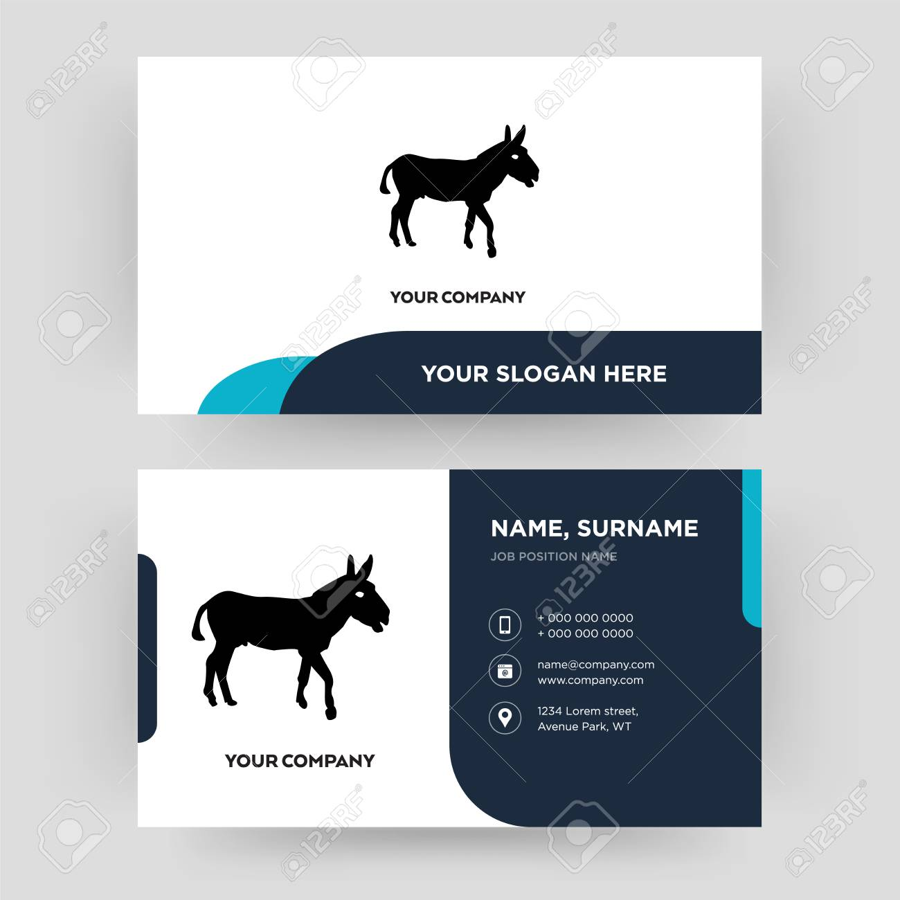 Donkey, Business Card Design Template, Visiting For Your Company ...