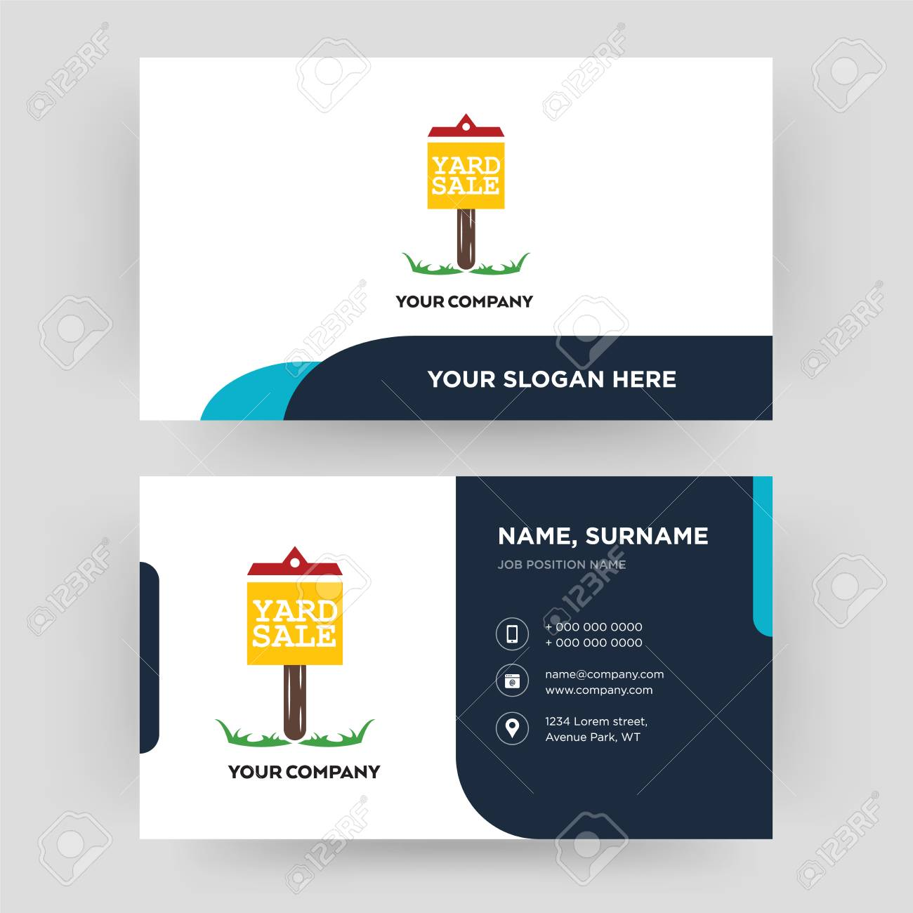 yard sale business card design template visiting for your company