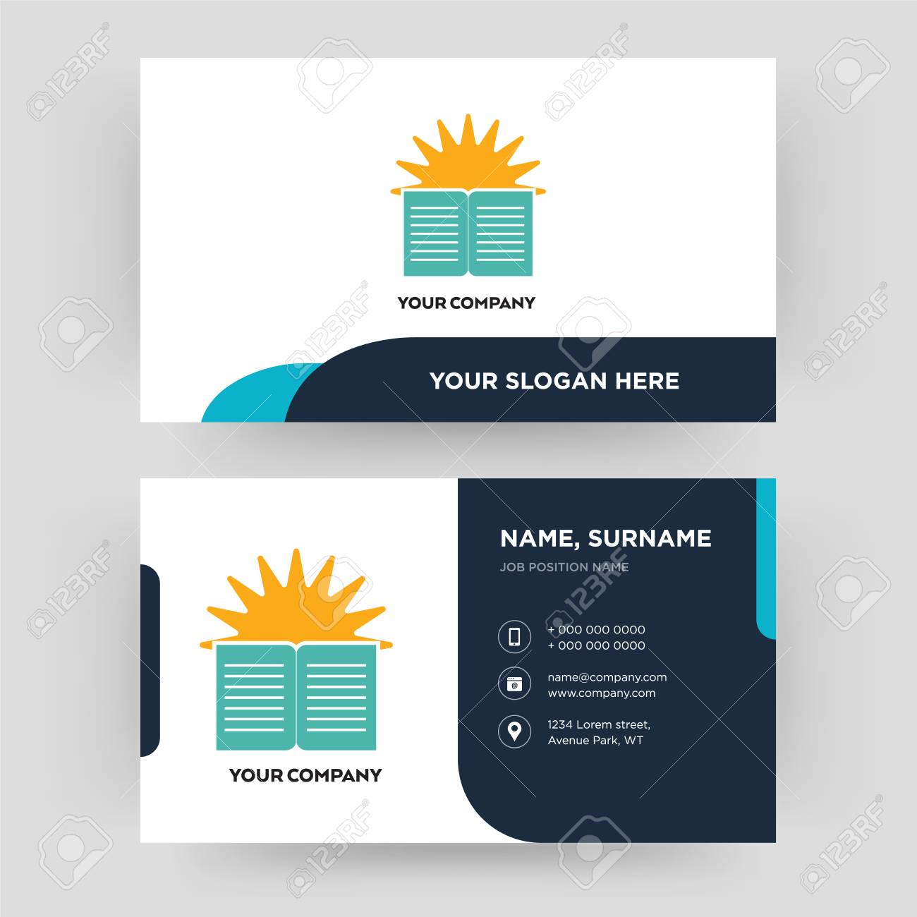 Sunday School Business Card Design Template Visiting For Your