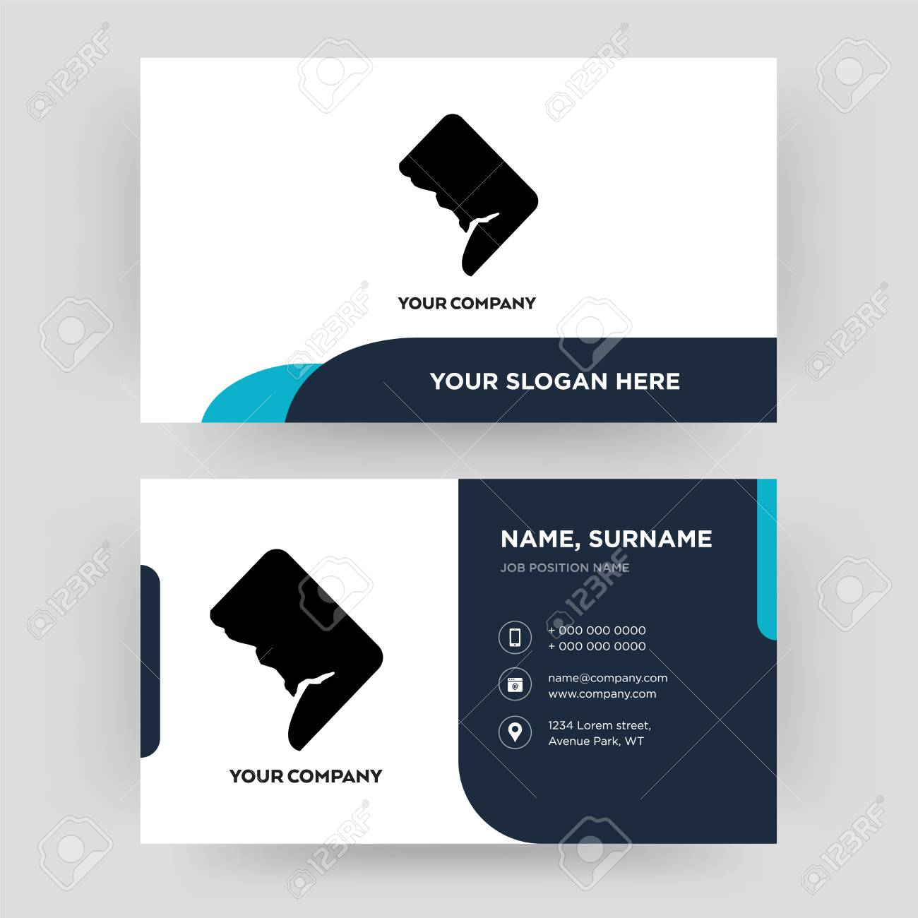 102278517 dc business card design template visiting for your company modern creative and clean identity card v