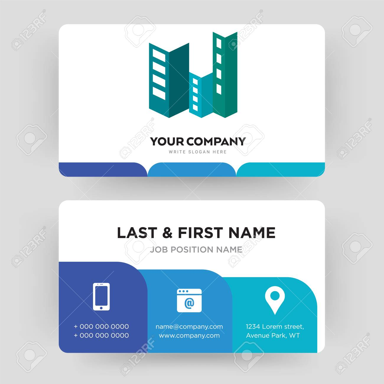 Construction Business Card Design Template Visiting For Your