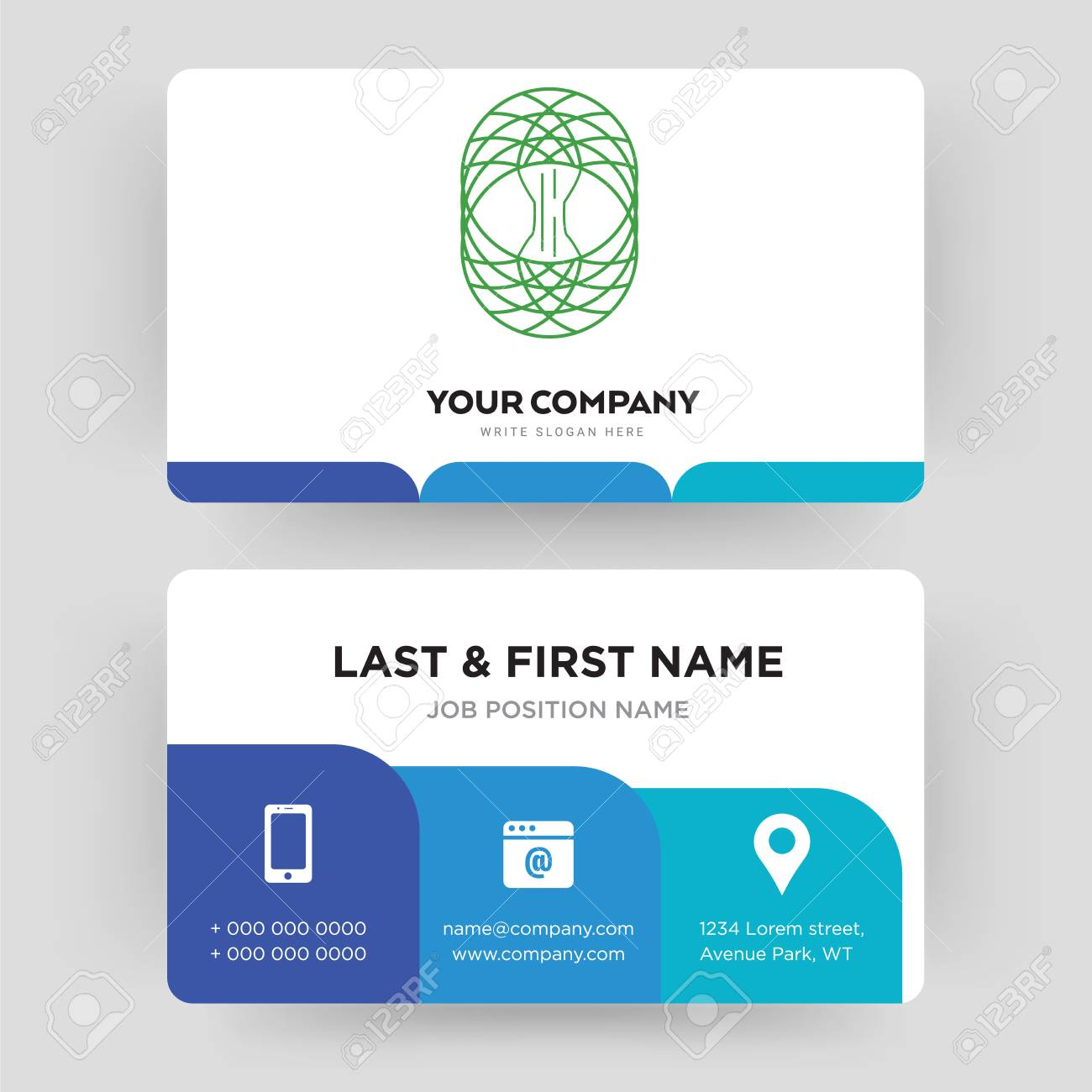 celtic tree of life business card design template visiting