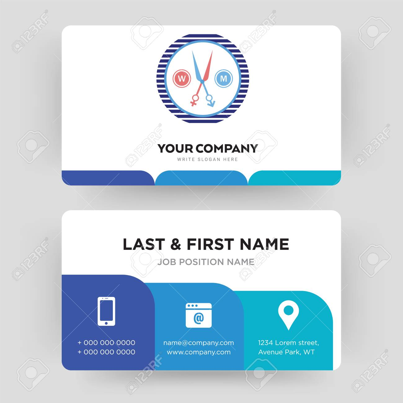 Unisex Salon Business Card Design Template Visiting For Your Royalty Free Cliparts Vectors And Stock Illustration Image 102279810