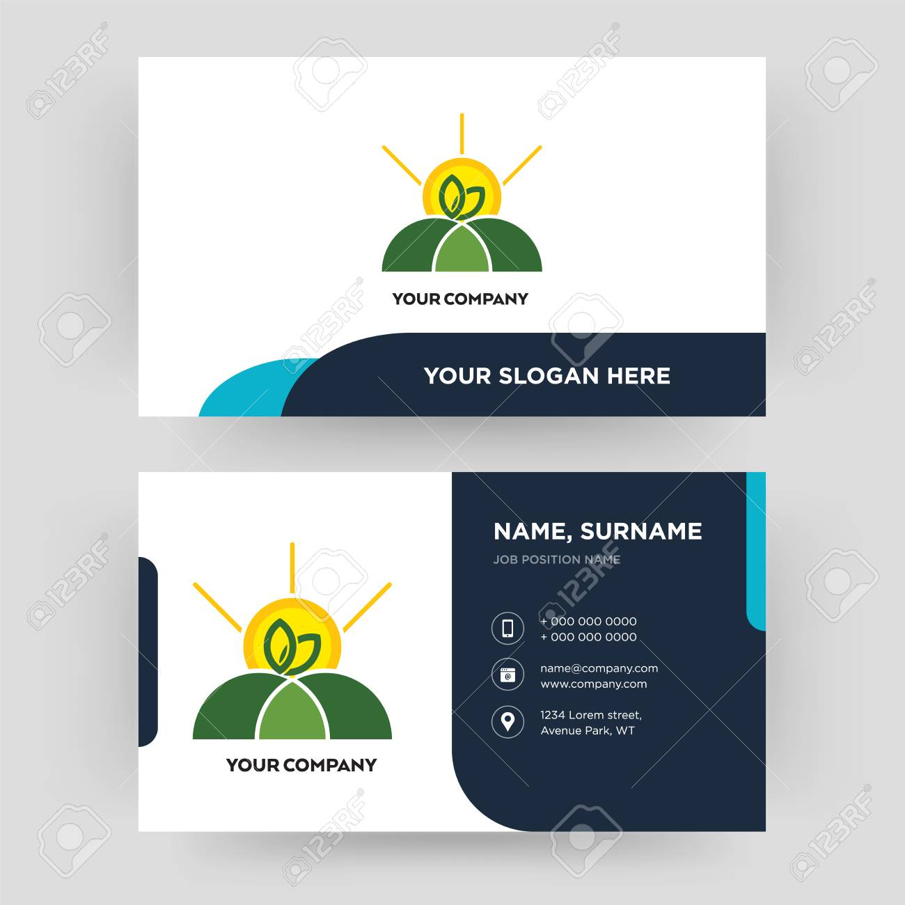 agro business card design template visiting for your company