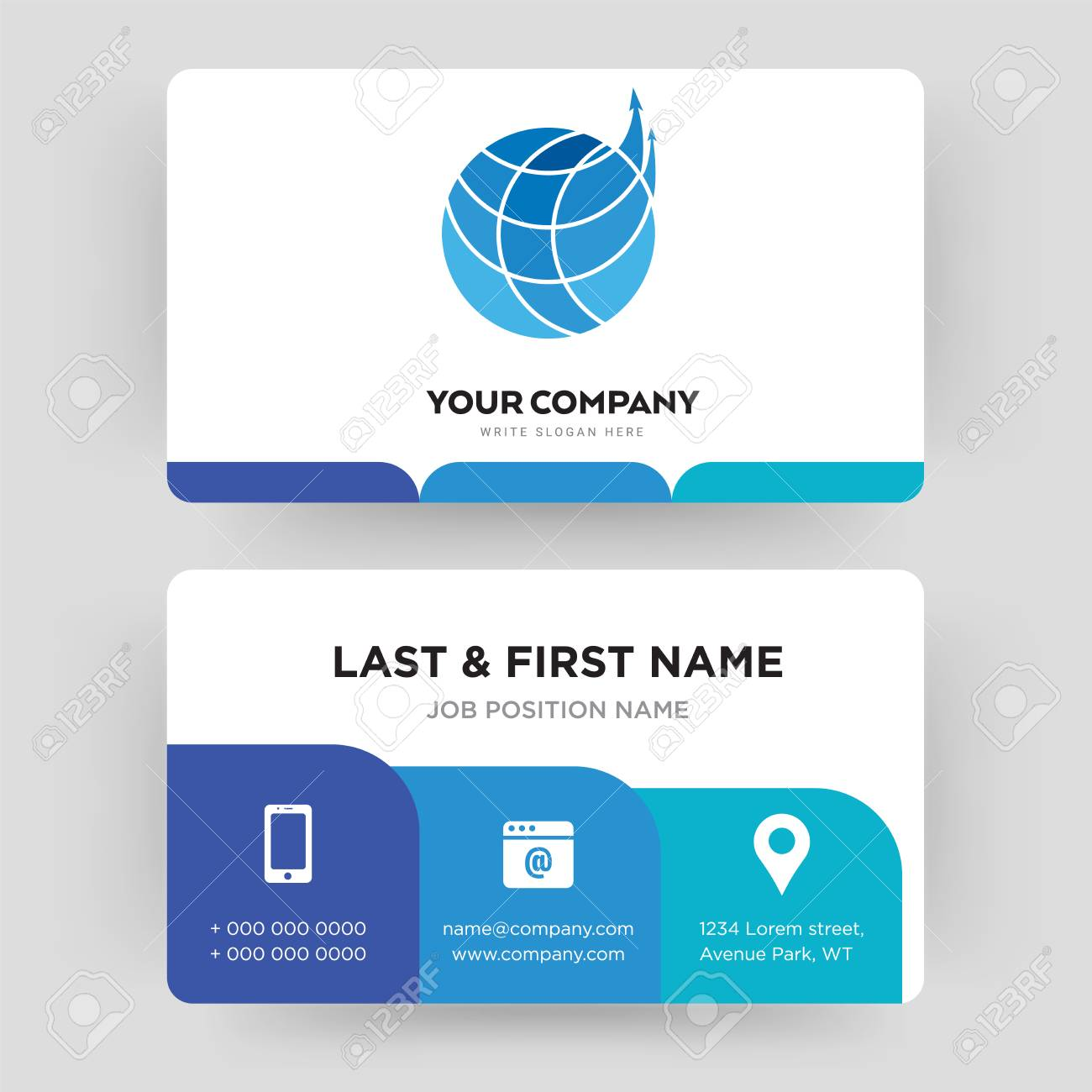 Logistics Company Business Card Design Template Visiting For