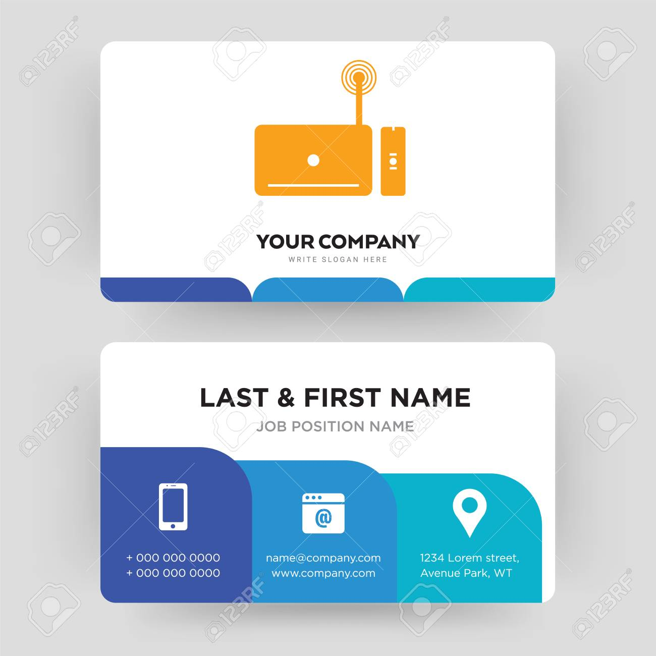 Set top box business card design template visiting for your set top box business card design template visiting for your company modern creative reheart Image collections
