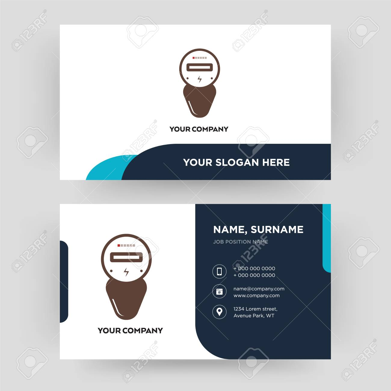 Electric meter business card design template visiting for your electric meter business card design template visiting for your company modern creative and fbccfo Image collections