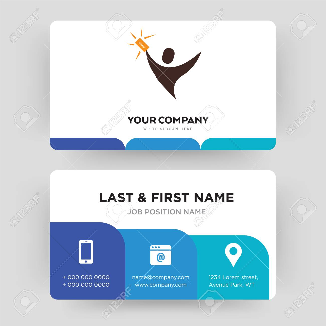 Lucky Draw Business Card Design Template Visiting For Your
