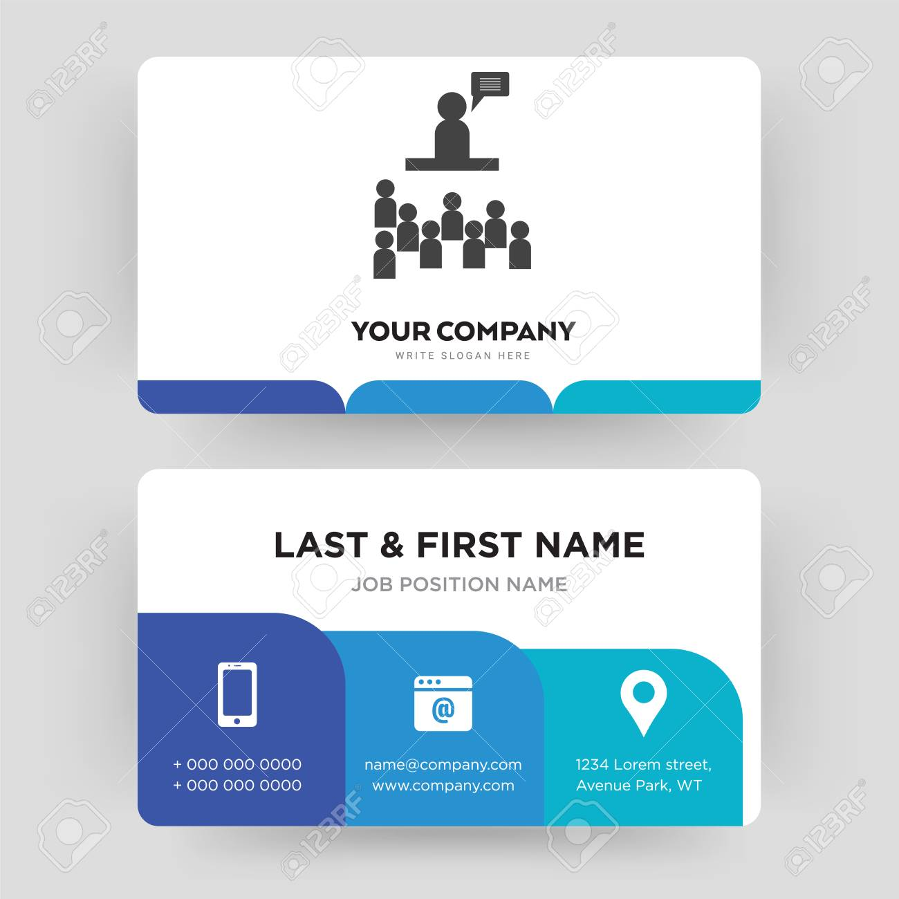 Public Relations, Business Card Design Template, Visiting For ...