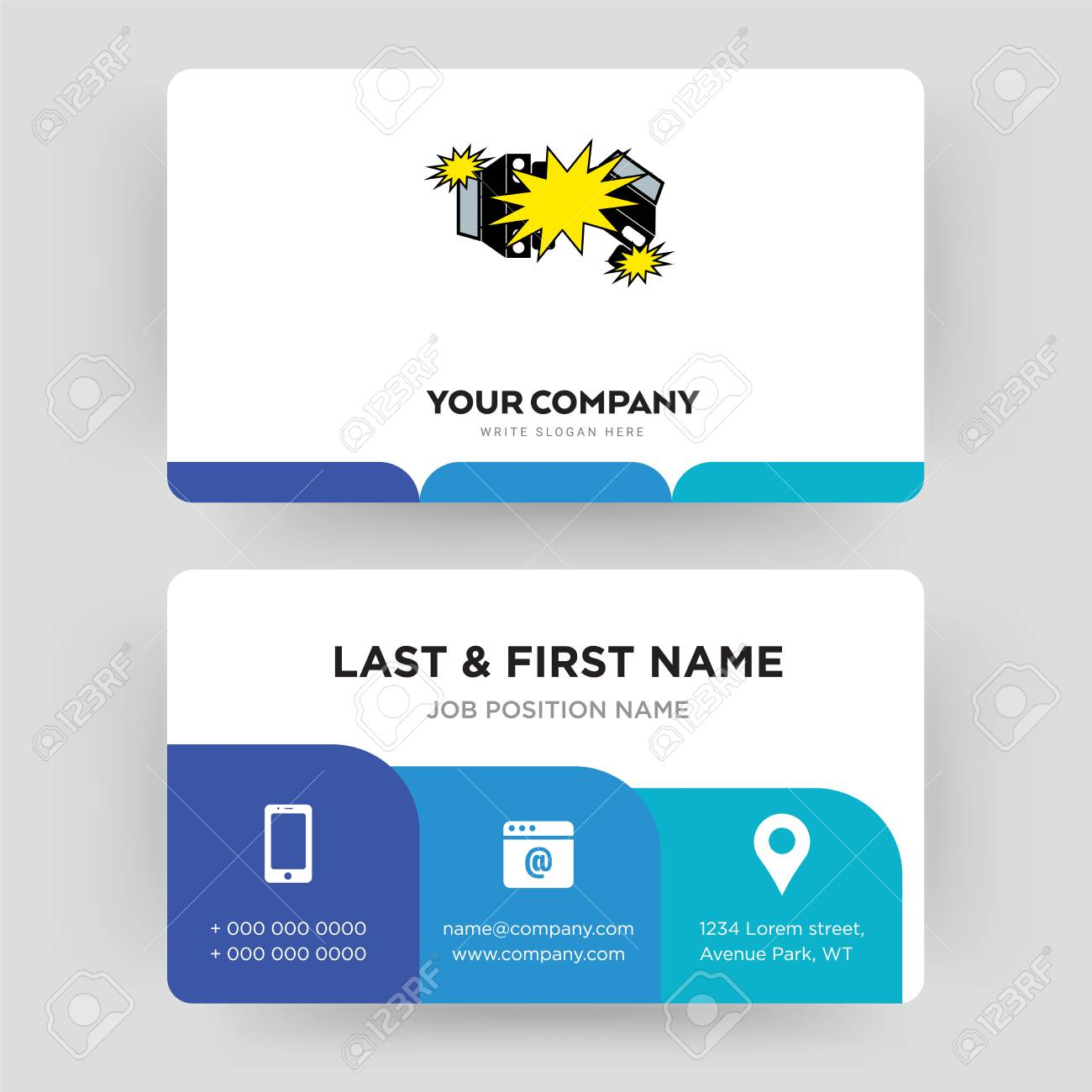 car crash business card design template visiting for your company