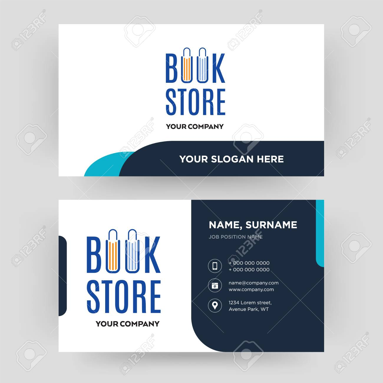 Book Store Business Card Design Template Visiting For Your