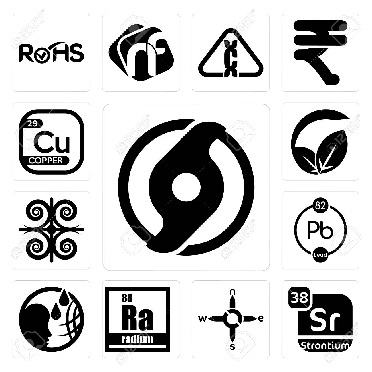 Set Of 13 simple editable icons such as official hurricane, strontium,