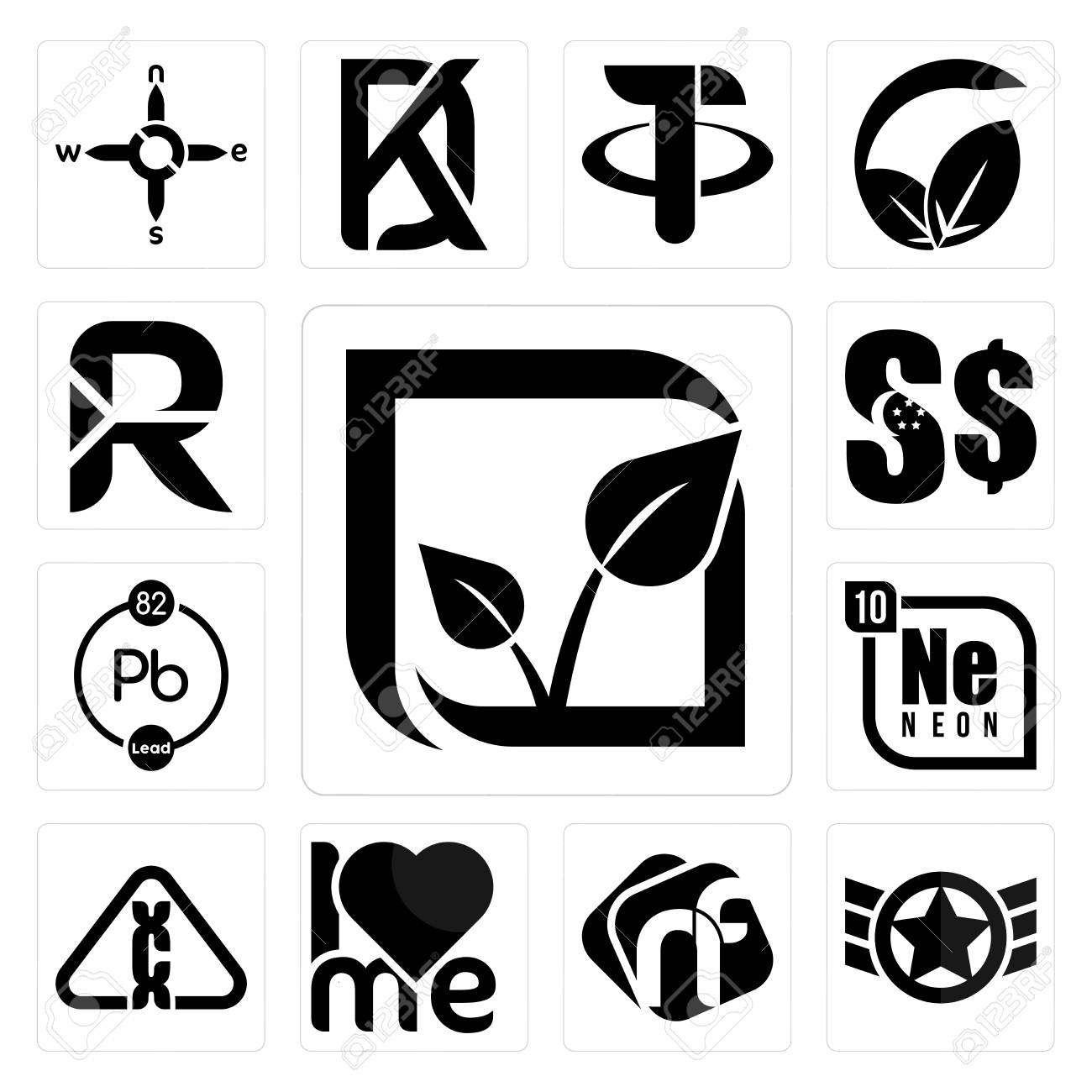 Set Of 13 Simple Editable Icons Such As Pure Veg Air Force