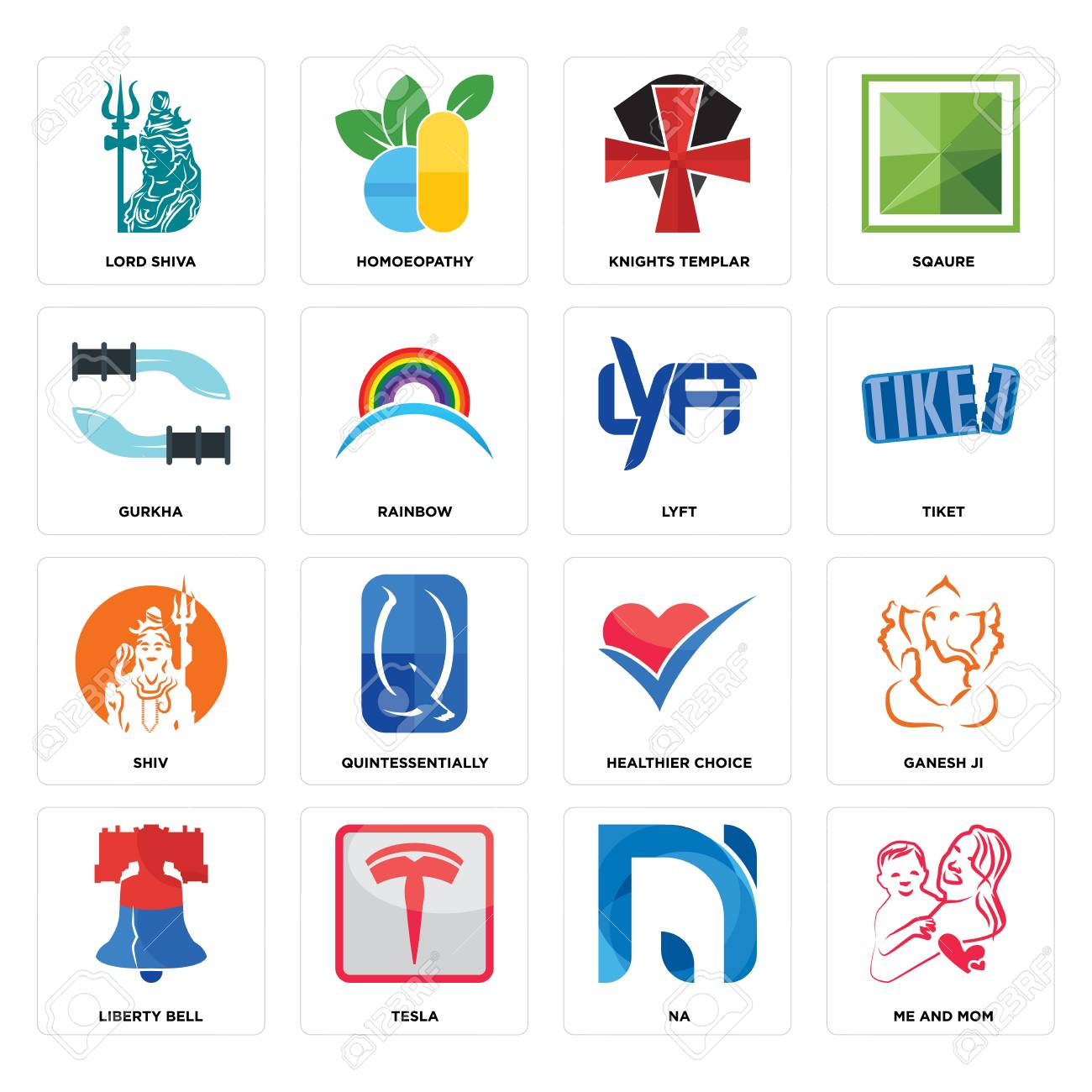 Set Of 16 simple editable icons such as me and mom, na, tesla,